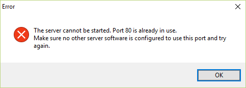 Port is in use