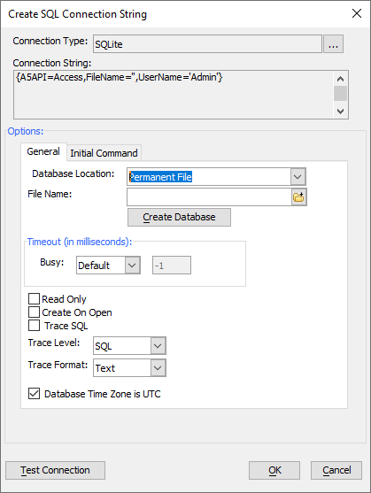 Connecting to SQLite