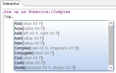 DotNet Example: Complex Numbers