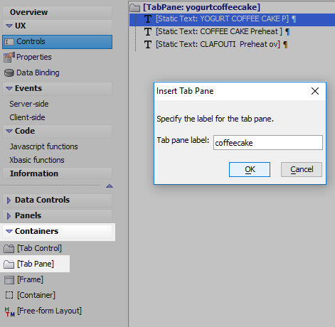 Using a Button List Control to set Active Panes in a Tab Control