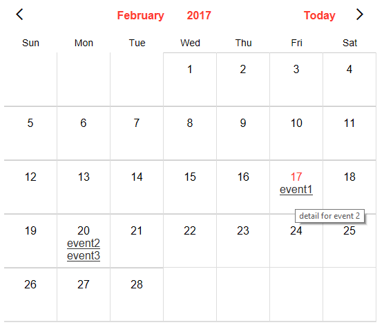 Using Static Data to Display Events on a Calendar Control