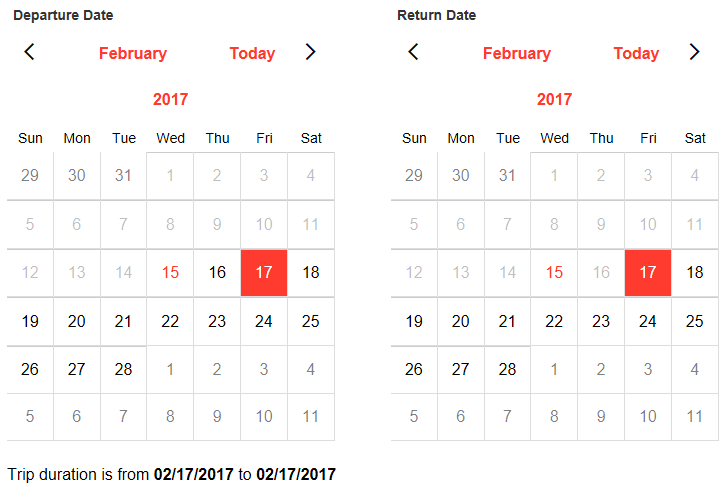 Settings 'Start' and 'End' Dates in a Calendar Control