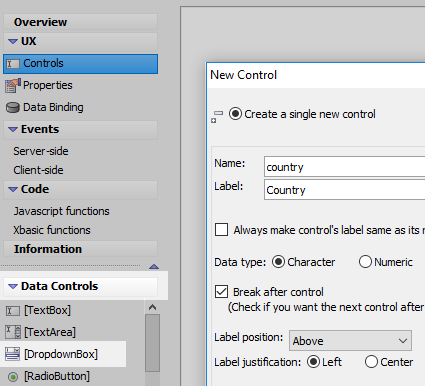 Using a Dropdown Box Control to Populate a List with SQL Data