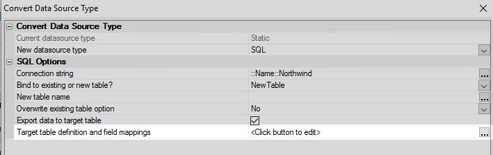 Converting Static Data into SQL Data