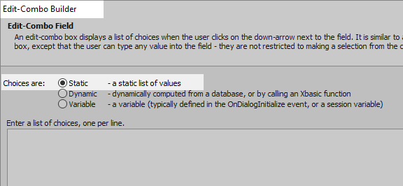 Dynamically Re-populate the Choices in an Edit-Combo using Javascript