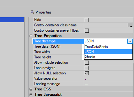 Populate a tree control using Javascript
