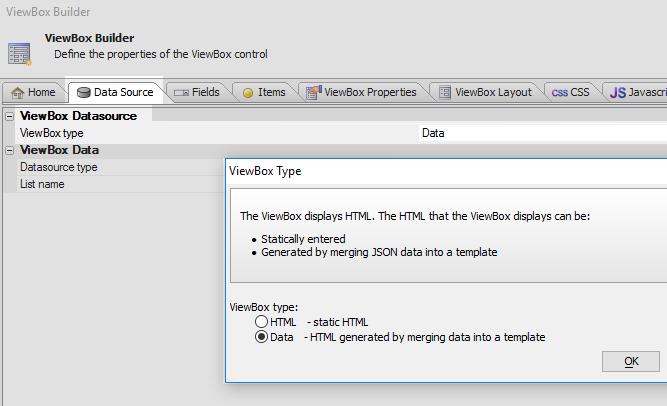 Merge JSON data into an HTML ViewBox Template