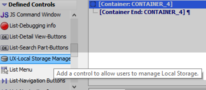 UX-Local Storage Management