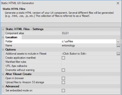 Create static HTML files