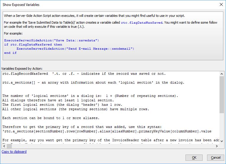 Server-side Action Scripting