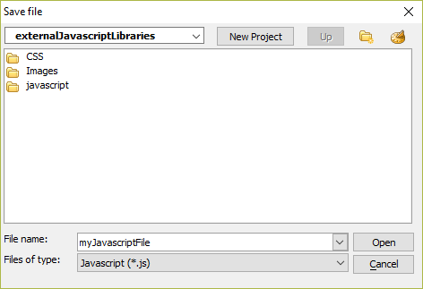 Create and Link an External JavaScript File