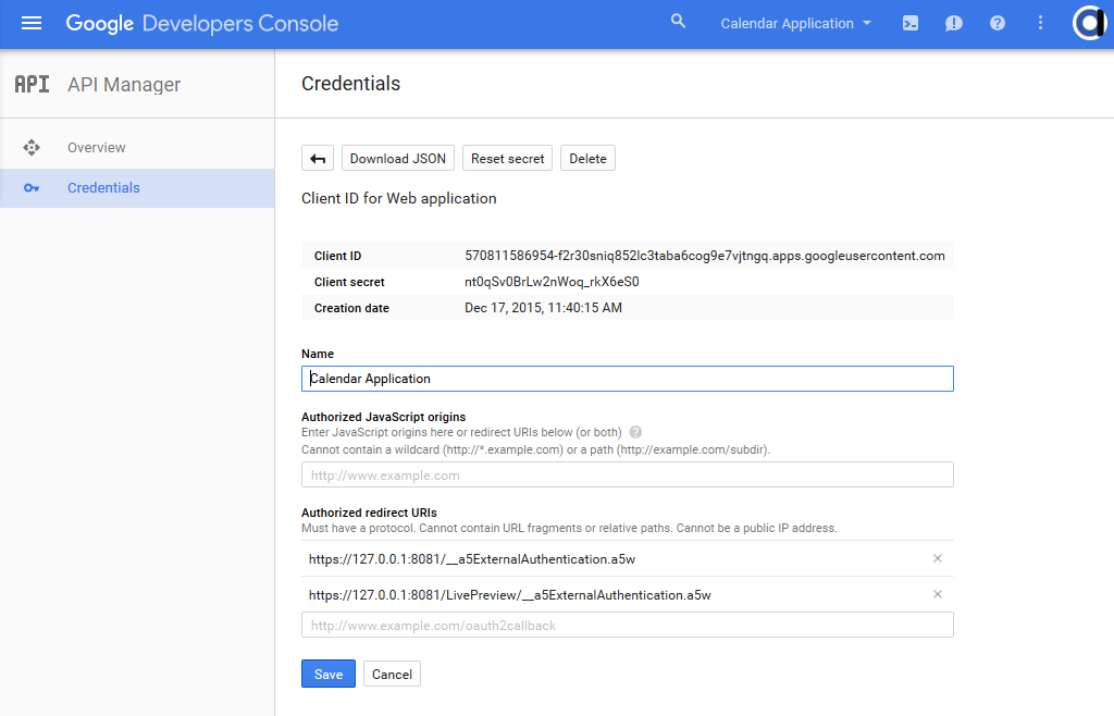 Creating Oauth Client Applications