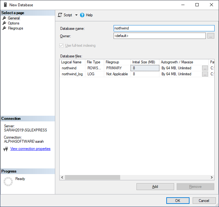 Importing the Northwind Access Database into SQL Server